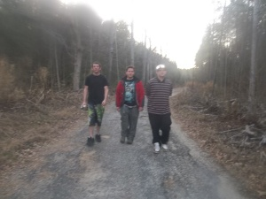 From left to right. Michael Guyton (investigator), Maxwell Alexander (Lead Investigator), Aaron Sprouse (Demonologist). Photo taken by Sarah Freyta (Investigator).